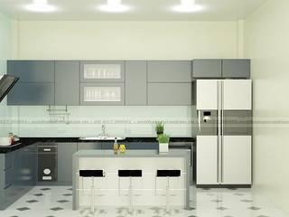 Vẻ đẹp lịch lãm, hiện đại của tủ bếp màu xám bởi Nội thất Nguyễn Kim