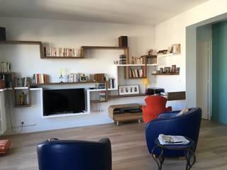 Appartement Paris Batignolles Salon moderne par Christine Fath architecte d'intérieur CFAI Moderne