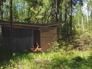 silent meditation cabin:   door Studio TMOJ, Minimalistisch