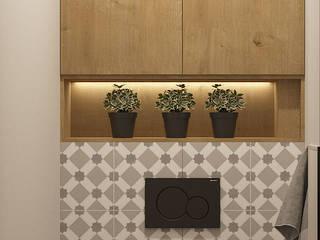 Небольшая квартира для большой семьи: Ванные комнаты в . Автор – Юлия Буракова, Скандинавский