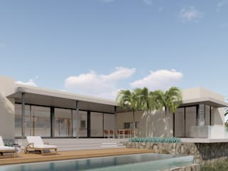 Proyecto de vivienda unifamiliar en Granadilla de CORREA + ESTEVEZ ARQUITECTURA Moderno