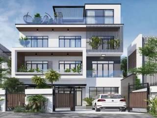 Thiết kế kiến trúc biệt thự bởi CÔNG TY CỔ PHẦN TƯ VẤN ĐẦU TƯ VÀ THƯƠNG MẠI ĐÔNG PHONG