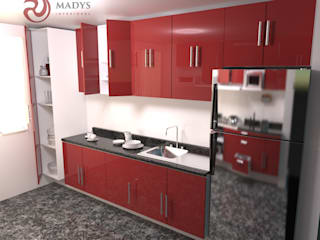 MADYS INTERIORES Built-in kitchens Multicolored