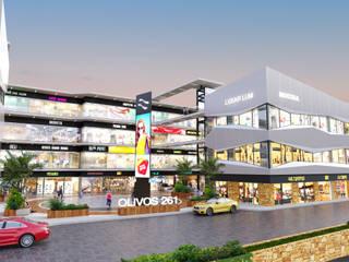 Olivos 261 Centros comerciales de estilo moderno de Ocalta Moderno