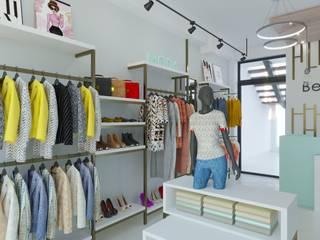 BOUTIQUE Centros comerciales modernos de DUALEC 'Diseño y Construccion' Moderno
