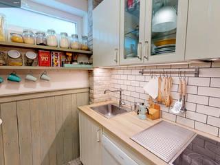 Loft Bilbao (Deusto) Cocinas de estilo rústico de TRIPLE-D Rústico