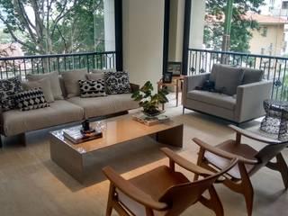 APARTAMENTO JARDINS Salas de estar modernas por NEWFORMA!R8X Moderno