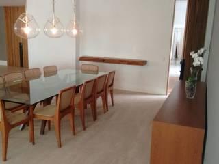 APARTAMENTO JARDINS Salas de jantar modernas por NEWFORMA!R8X Moderno