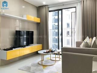 Thi công hoàn thiện nội thất căn hộ chung cư Hà Đô Centrosa Garden 77m2 có 2 phòng ngủ - anh Hải, Quận 10 bởi Công ty TNHH Nội Thất Mạnh Hệ Hiện đại