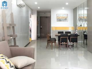 Thi công hoàn thiện nội thất căn hộ chung cư Hà Đô Centrosa Garden 77m2 có 2 phòng ngủ - anh Hải, Quận 10 Phòng ăn phong cách hiện đại bởi Công ty TNHH Nội Thất Mạnh Hệ Hiện đại