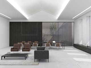 Minimalist commercial spaces by MMEB arquitetos Minimalist
