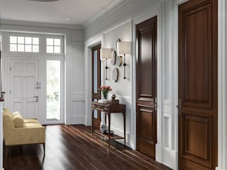 Classic style corridor, hallway and stairs by MARION STUDIO Classic