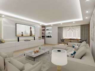 Modern Living Room by Art Fusion Modern