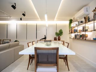 C2HA Arquitetos Modern dining room White
