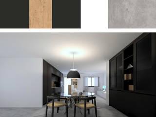 モダンデザインの リビング の RR Estudio Interiorismo en Madrid モダン