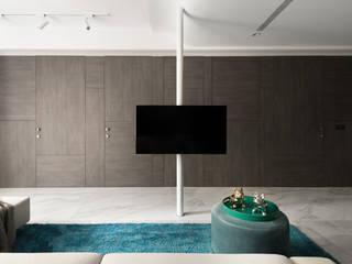燭光 Candlelight 现代客厅設計點子、靈感 & 圖片 根據 肯星室內設計 現代風