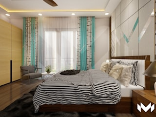 Bedroom Interiors @Hyderabad by M - Designs & Projects