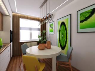 Minimalist dining room by STUDIO DESIGN КРАСНЫЙ НОСОРОГ Minimalist