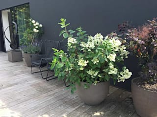 Terrassengestaltung mit Pflanzgefäßen von Atelier Vierkant Blumen & Gärten GartenBlumentöpfe und Vasen