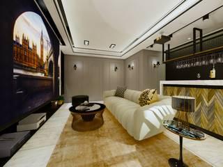 優雅輕古典:  家庭劇院 by 台灣柏林室內設計, 古典風