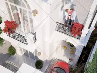 Mẫu thiết kế nhà phố 2 tầng ngang 6m dài 15m tân cổ điển [Chị Thúy Quận 9] by Công ty Thiết kế Xây dựng Taka