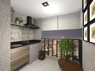 VARANDAS PEQUENAS por Nainá Julio - Designer de Interiores