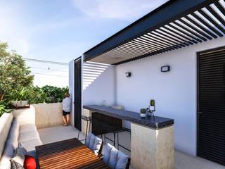 Ápiron Balconies, verandas & terraces Furniture Concrete Black