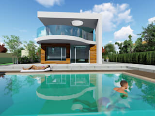 DYOV STUDIO Arquitectura, Concepto Passivhaus Mediterraneo 653 77 38 06 Villas Wood White