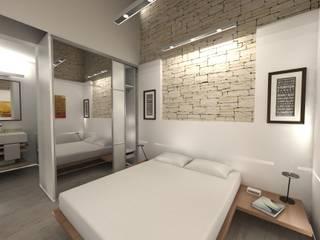 RÖ | ARQUITECTOS Minimalist bedroom Stone
