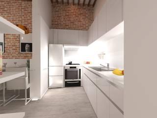 RÖ | ARQUITECTOS Small kitchens Plywood White
