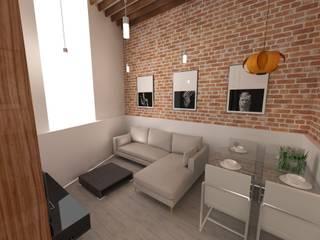 REFORMA VIVIENDA 1910 CALLE CARVAJAL LAS PALMAS GRAN CANARIA Salones de estilo minimalista de RÖ | ARQUITECTOS Minimalista Ladrillos