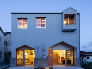 Scandinavian style houses by FUMIASO ARCHITECT & ASSOCIATES/ 阿曽芙実建築設計事務所 Scandinavian