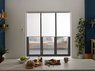 ULTRA Smart blinds for bi-fold doors por Appeal Home Shading Minimalista