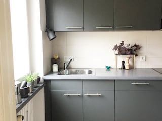 KANOS Design Modern kitchen لکڑی پلاسٹک جامع Grey