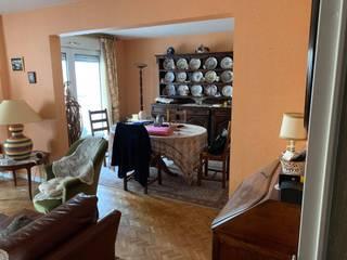 Réaménagement d'un appartement au centre de Lyon. Salon scandinave par Julie LEFEVRE - Design d'Espace et Rendu 3D Scandinave