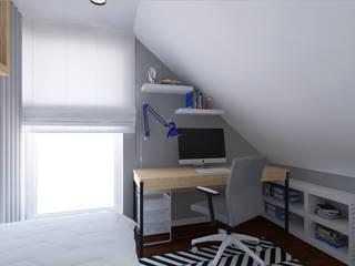 Pokój dla natolatka od meinDESIGN Minimalistyczny