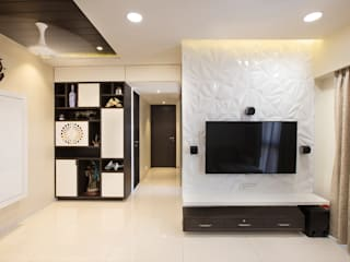 Dharmesh Patel Modern living room by DECODE DESIGN Modern