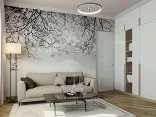 Living room by Архитектурное бюро «Парижские интерьеры», Eclectic