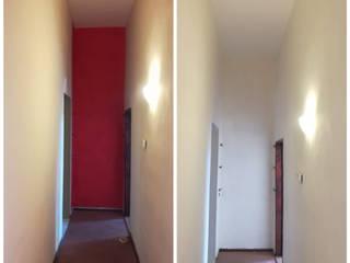 Colori e passioni ทางเดินสไตล์คลาสสิกห้องโถงและบันได