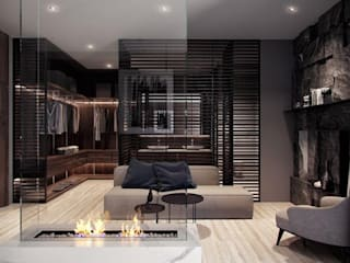 Penthouse Modern media room by Inception Design Cell Modern