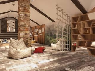 Мансарда Рабочий кабинет в эклектичном стиле от El'design Эклектичный