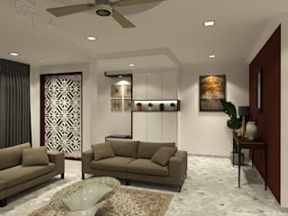 Asian style living room by eL precio Asian