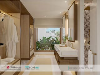 Dự án Maia Quy Nhơn Beach Resort - HOMEMAS thi công đá nhân tạo:  Phòng tắm by HOMEMAS ( THÀNH VIÊN CÔNG TY CỔ PHẦN QHPLUS ), Hiện đại