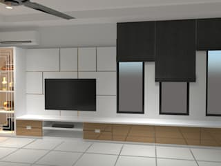 DESIGN AND BUILD TV CABINET AT AMPANGAN, NEGERI SEMBILAN: modern  by eL precio, Modern