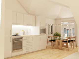 Inêz Fino Interiors, LDA Small kitchens Beige