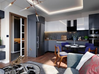 Çalık Konsept Mimarlık KitchenCabinets & shelves Grey