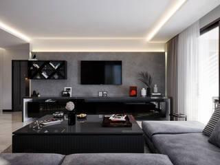 Çalık Konsept Mimarlık Sala de estarTV e mobiliário Preto