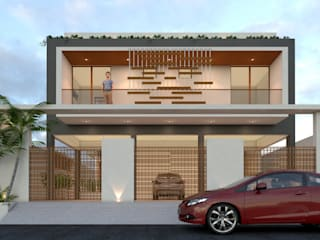 Ravi Prakash Architect Minimalist house Reinforced concrete White