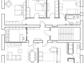 Casas modernas de Scaglione Workshop architettura e design Moderno