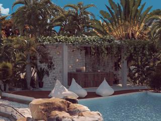 Bar Hotel Romeo Tulum de BÖHEM STUDIO Tropical